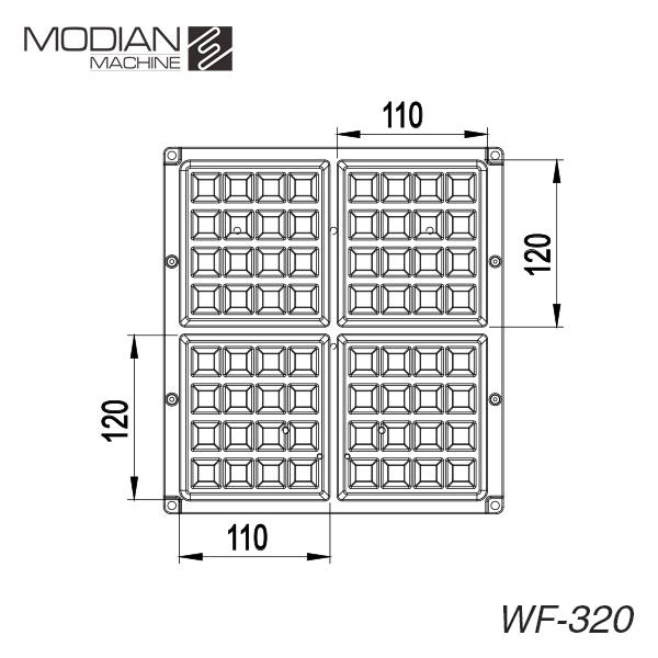 比利時鬆餅機(四分格) WF-320S+T(科技銀/ 拋光版)